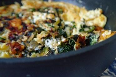 Omelette mit Spinat und Feta  GourmetGuerilla.de