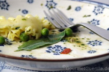Schnelle Pasta mit Erbsen und Salbei |GourmetGuerilla.de