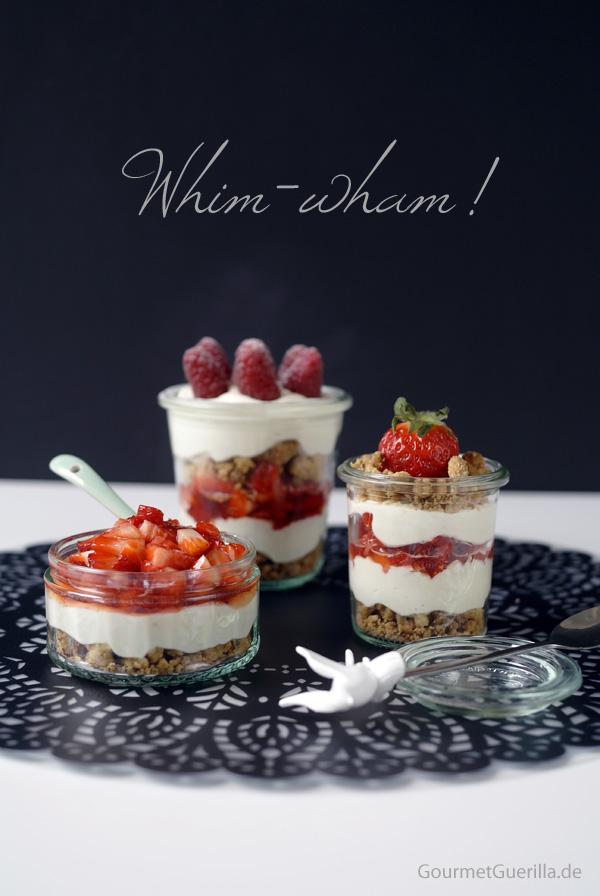 Whim-wham mit Erdbeersalat, Zitronentraum und Streusel-Crunch |GourmetGuerilla.de