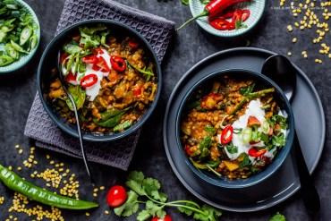 "Gemüse-Dhal ""Golden India"" unter 500 kcal mit viel Eiweiss  GourmetGuerilla.de"