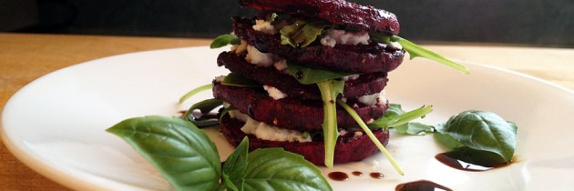 Stacked Beet and Arugula Salad