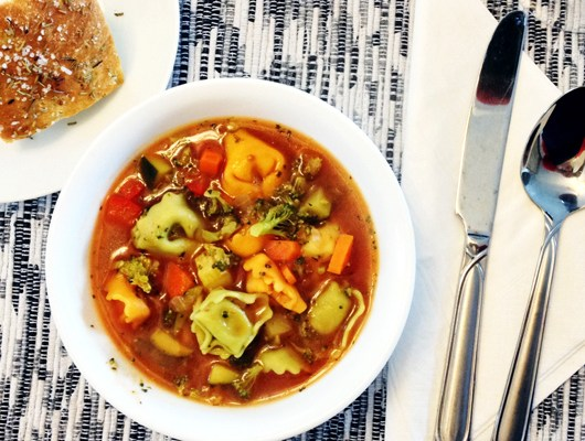 Tomato Vegetable Tortellini Soup
