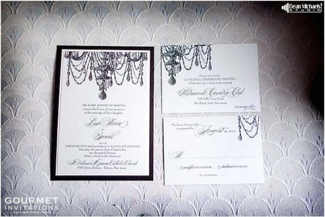 Chandelier Wedding Invitation Suite