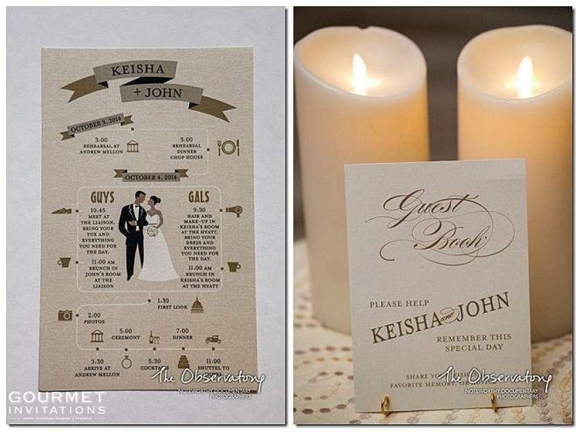 Washington Dc Themed Wedding Invitations Gourmet 0006