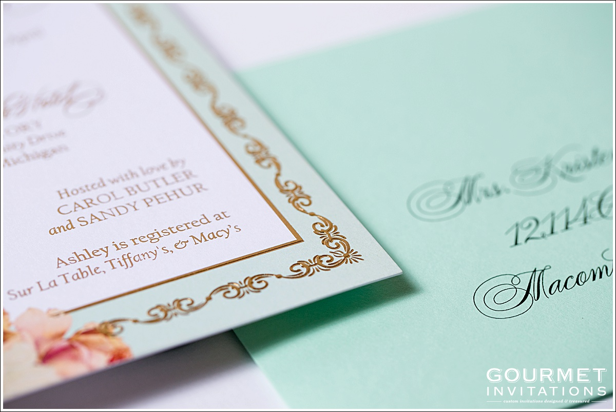 Mint And Gold Wedding Invitations_0003