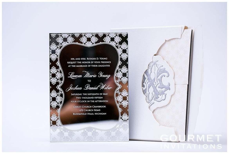 mirror wedding invitation