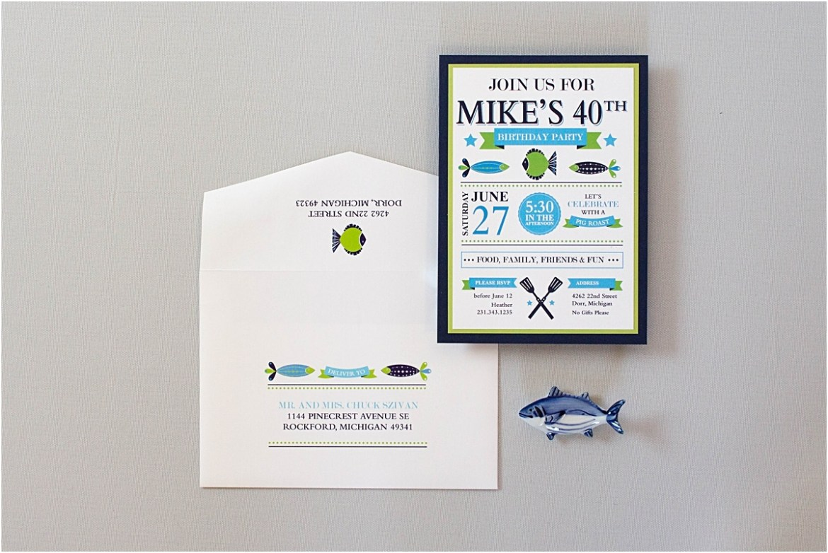 fishing theme birthday invitation