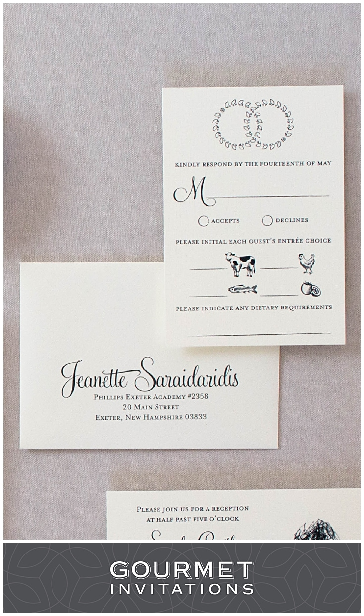 Greek Wedding Crown Invitations  Gourmet Invitations