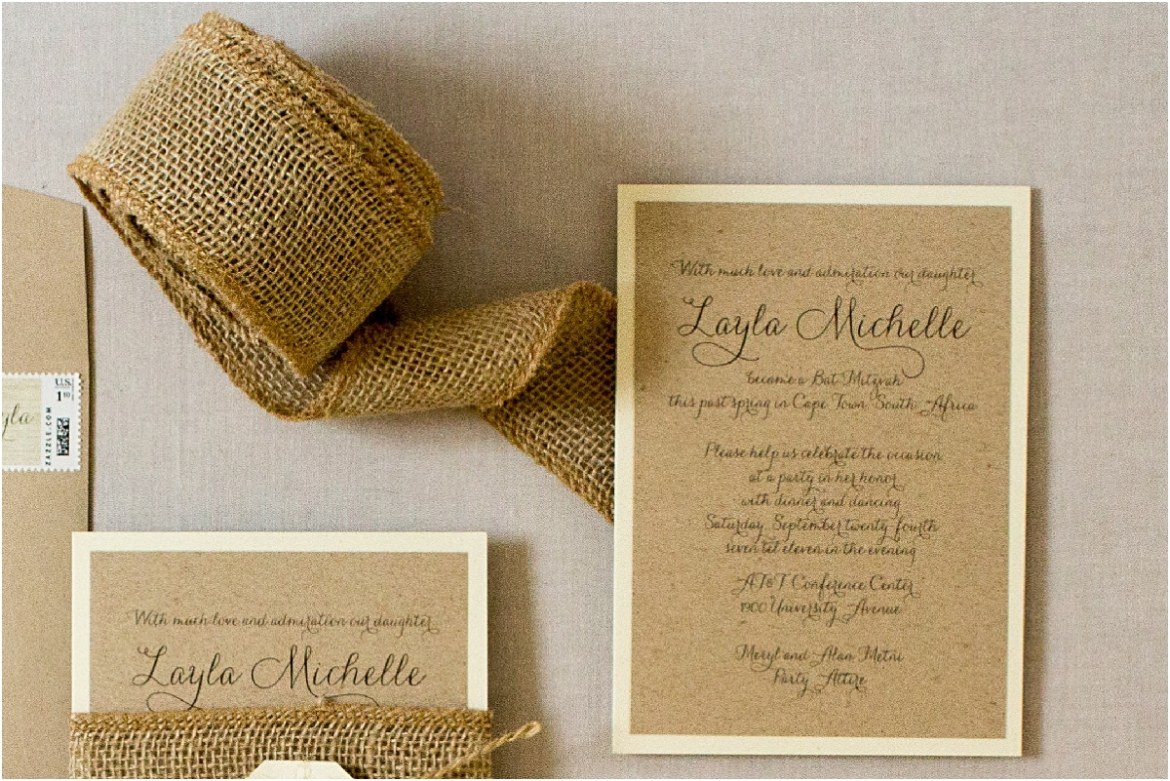 invitation with twine