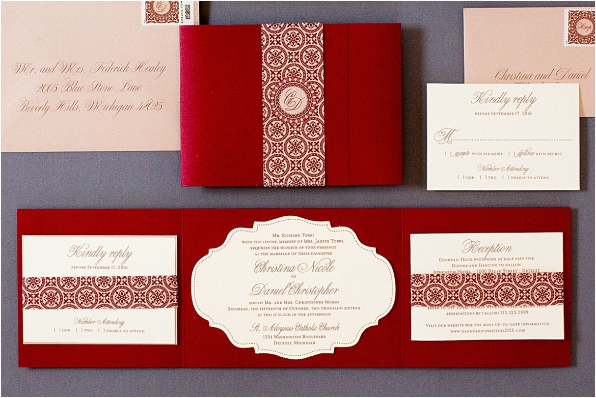 rose gold invitation