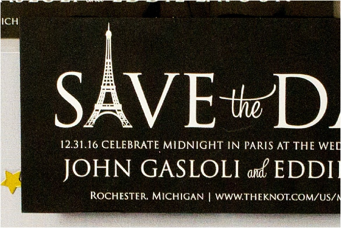 eiffel tower save the date