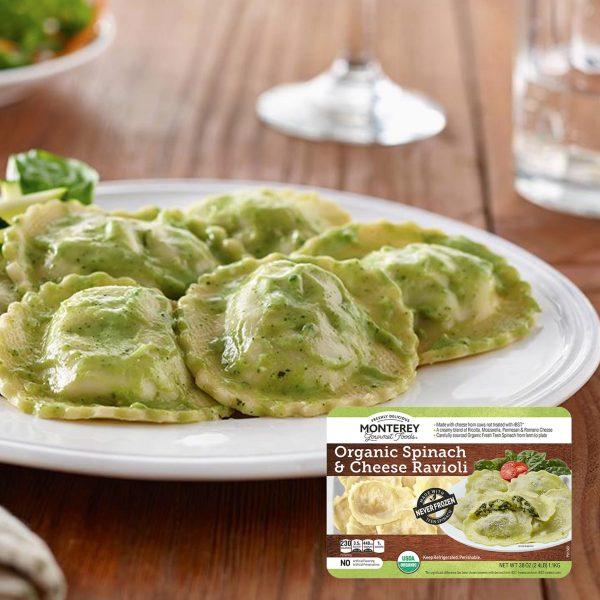 Monterey Organic Spinach & Cheese Ravioli Feature