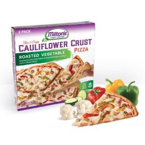 Milton's Roasted Vegetable Cauliflower Crust Pizza Feature