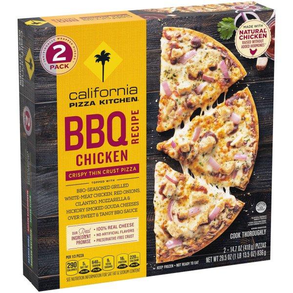 California Pizza Kitchen BBQ Chicken Crispy Thin Crust Pizza Angled 1