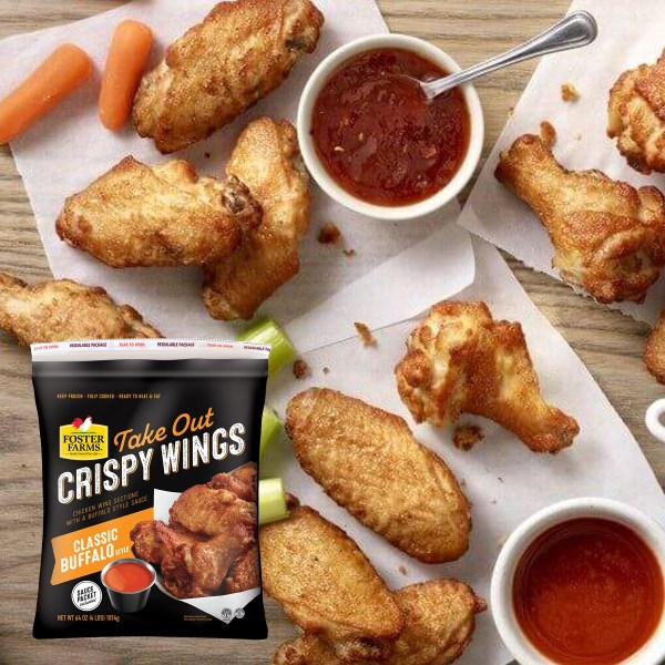 Foster Farms Classic Buffalo Take-out Crispy Wings Feature
