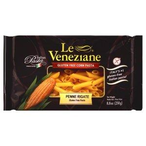 Le Veneziane Gluten Free Penne Rigate (Mostaccioli) Pasta Feature