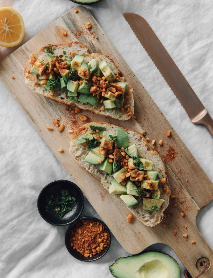 Avocado on Toast with Spiced Peanut Crumb- Côte d'Ivoire