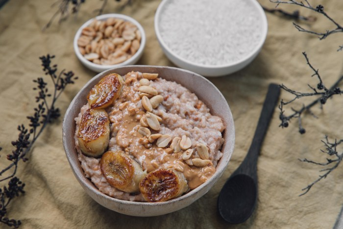 Peanut Butter Rice Porridge (Bouillie)