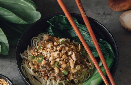 Vegetarian Dan Dan Noodles- China