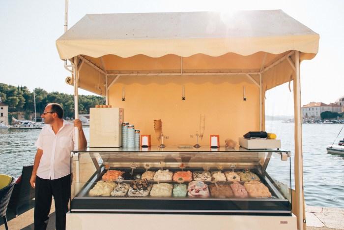 Picture of Icecream stand in Croatia