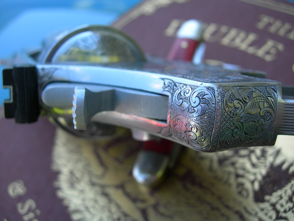 Smith & Wesson 657. Beautifully engraved gun.