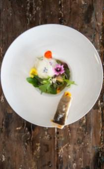 Un plat de Hervé Bourdon, Le petit Hôtel du Grand Large à Portivy