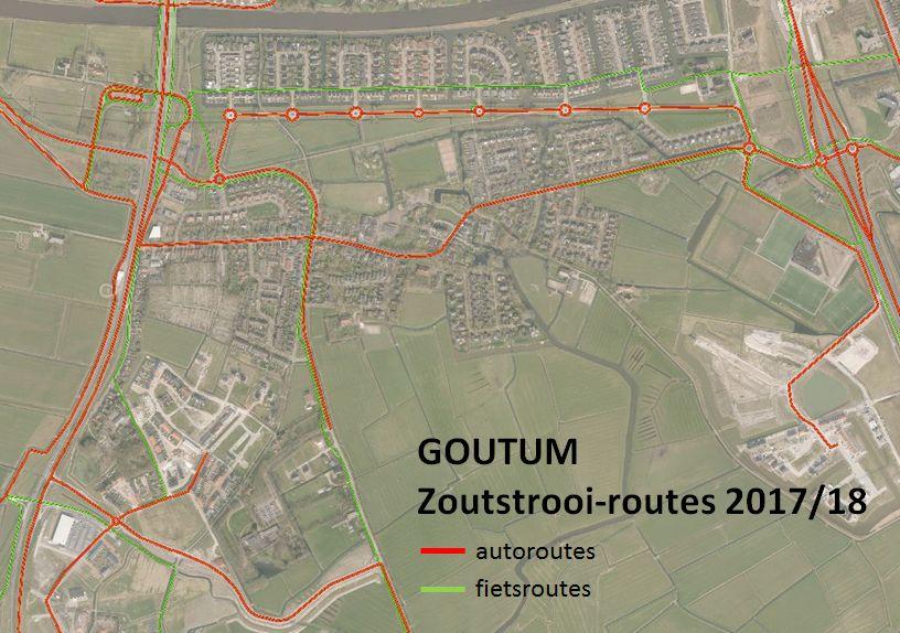 Strooiroutes uitgebreid in Goutum