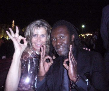 Valerie Penven and the musicien Carlos Vip Cannes 2009