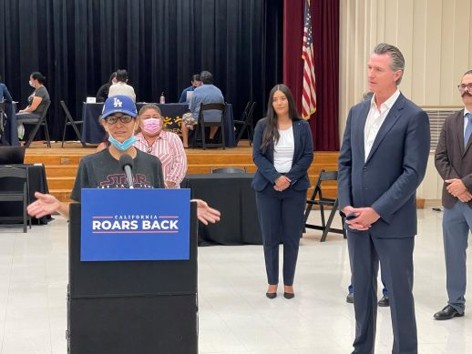 Governor Newsom at rent relief press conference