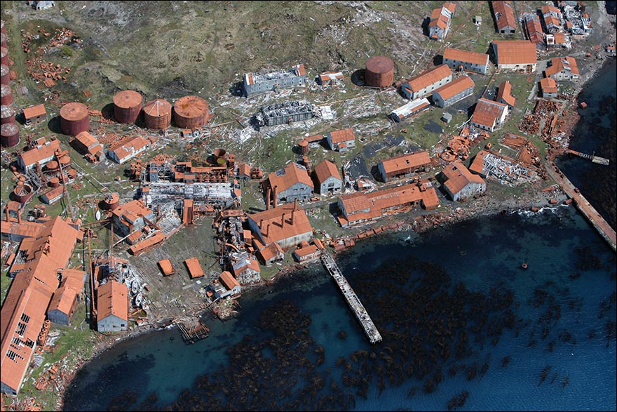 Aerial view of Leith Whaling Station.