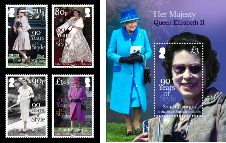 Queen 90th Birthday stamps