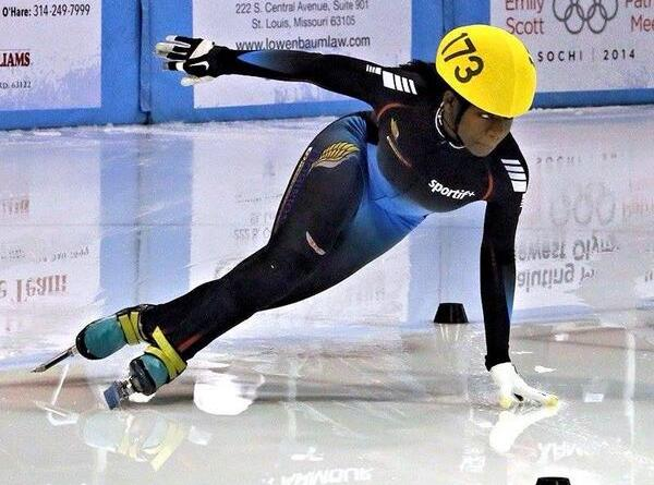 Ghanaian Maame Biney: first black women to compete on an olympic speed skating team