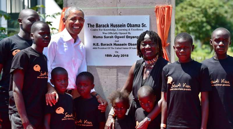 Obama launched a foundation in Kenya and payed tribute to Mandela in Johannesburg