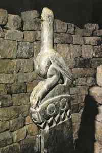 An artifact stolen from Zimbabwe. Shows carving of the Zimbabwe bird