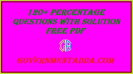 Arithmetic Problems With Solutions For Competitive Exams Pdf