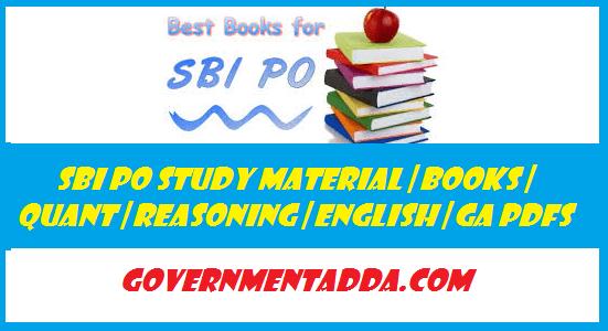 Po study exam pdf material sbi bank