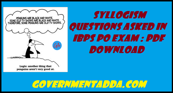 Syllogism Questions Pdf
