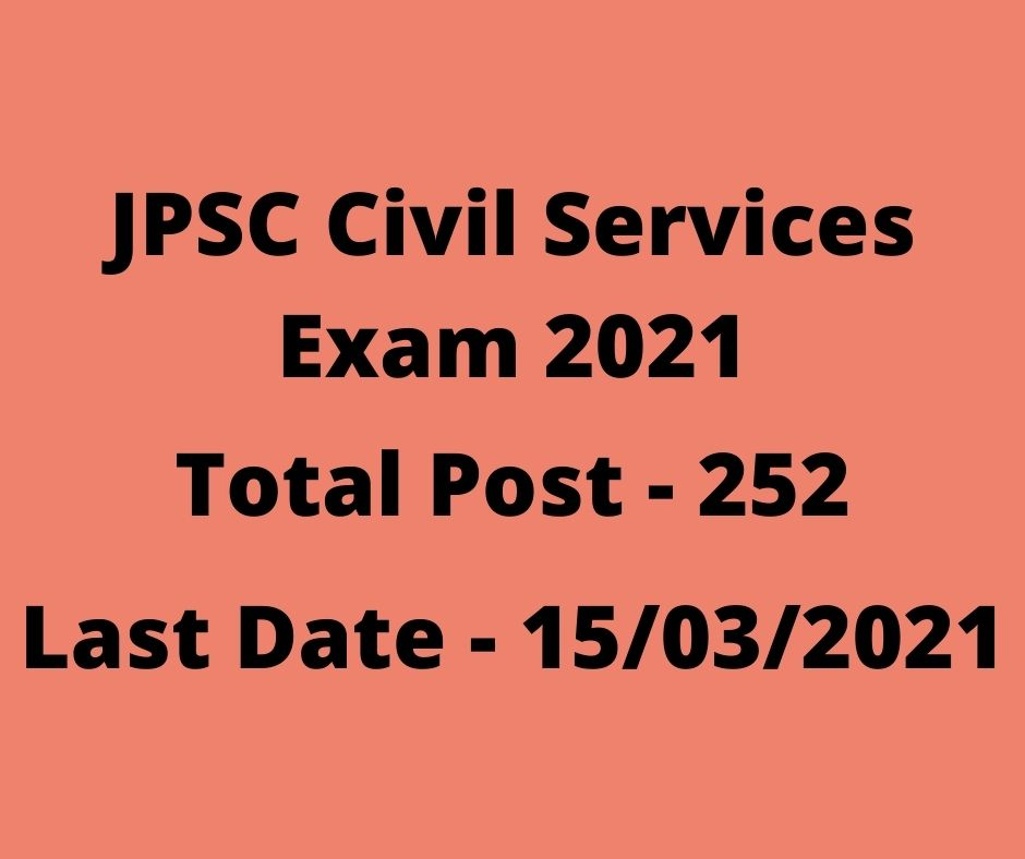 JPSC Civil Services Exam 2021