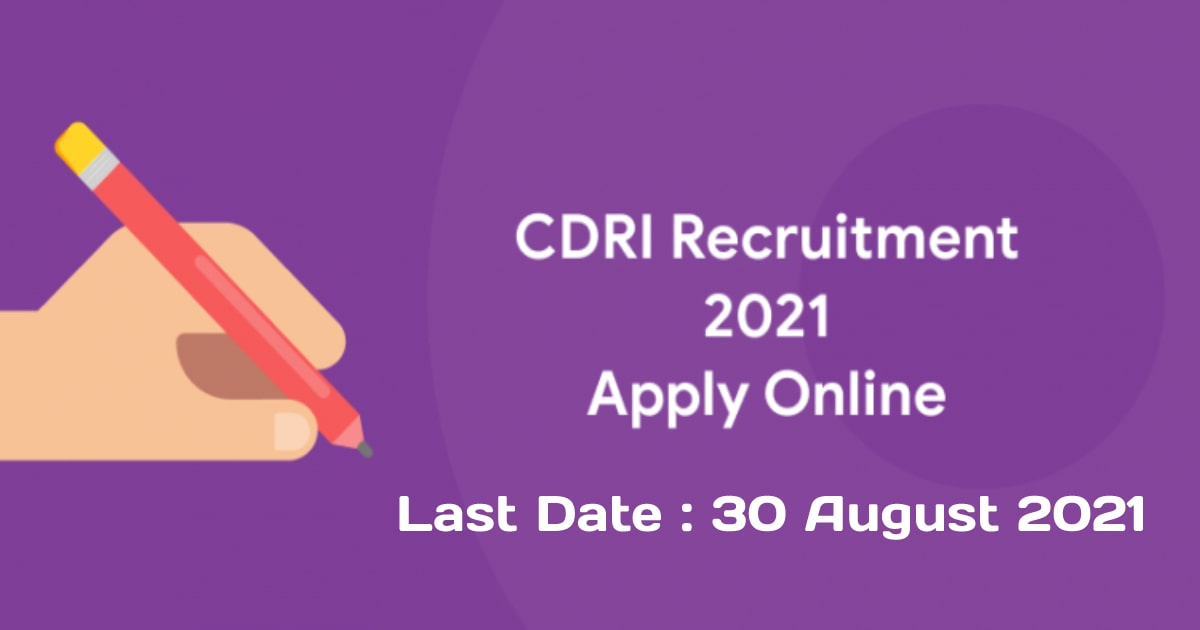 CDRI recruitment 2021