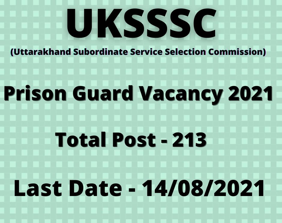 prison guard vacancy-2021