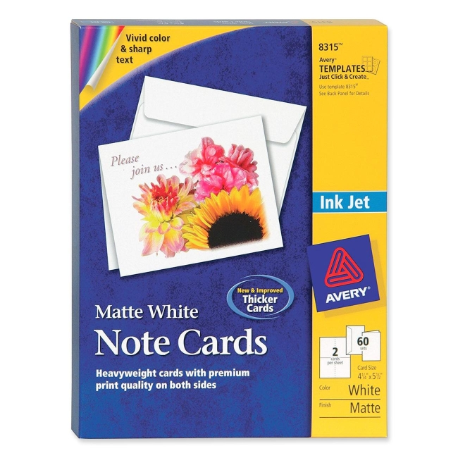 avery 8315 note cards