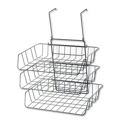 Wire Partition Additions Three-Tray Organizer, 13 1/2 x 11