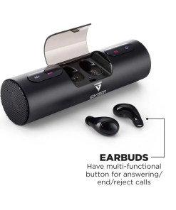 bluetooth wireless speaker with earbuds