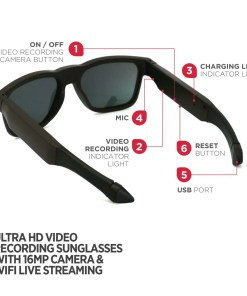 Video Camera Sunglasses Royale Black 9