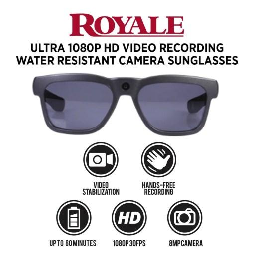 Video Camera Sunglasses Royale Black 5