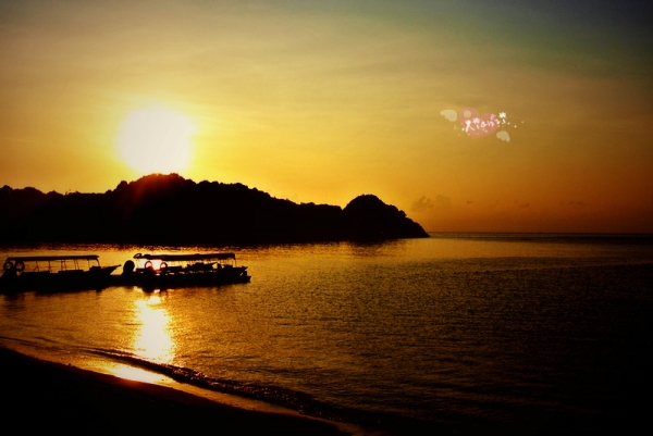 Sunset at Redang Kalong Bay