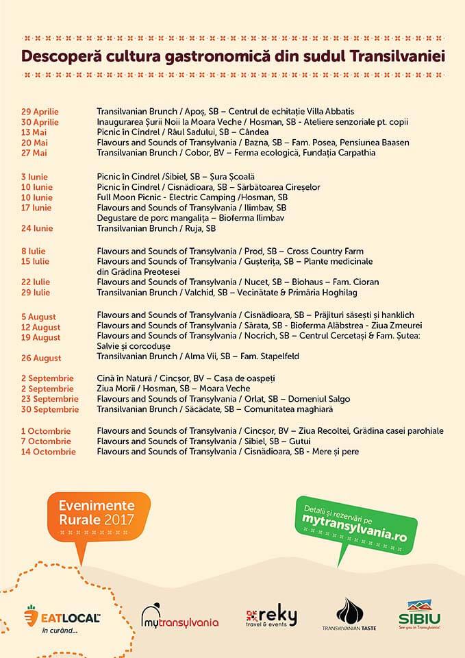 Transylvania Culinary Events 2017