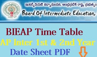 AP Intermediate Time Table 2021
