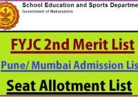 FYJC 2nd Merit List 2019