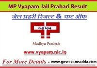 MP Vyapam Jail Prahari Result 2020-21